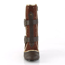 "Load image into Gallery viewer, MATEY-205 Funtasma 3"" Heel Brown Distressed Pu Women's Boots"