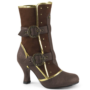 "MATEY-205 Funtasma 3"" Heel Brown Distressed Pu Women's Boots"