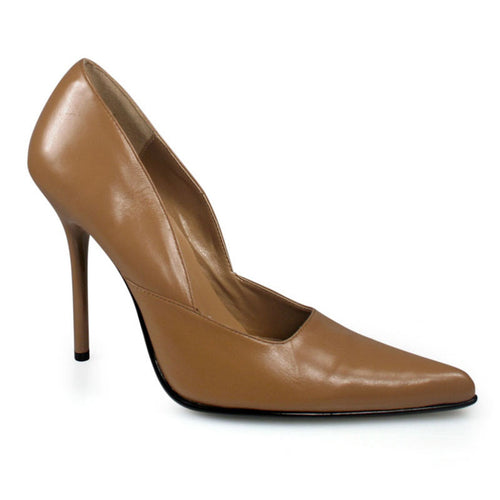MILAN-01 Pleaser 4.5 Inch Heel Camel Leather Fetish Footwear