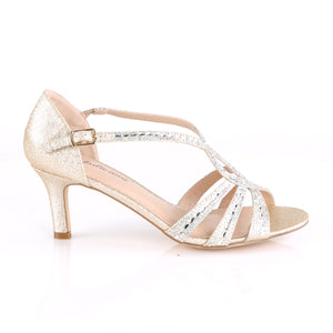 "MISSY-03 Fetish 2.5"" Champagne Shimmering Fabric Sexy Shoes"