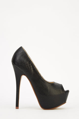 Sexy Black Platform High Heel Shoes - Sexy Shoes - 1