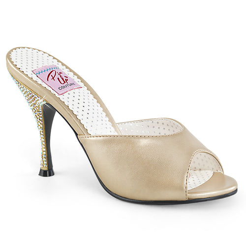 MONROE-05 Pin Up 4 Inch Heel Champagne Fetish Footwear
