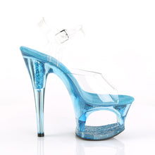 "Load image into Gallery viewer, MOON-708GFT 7"" Heel Clear & Blue Tinted Pole Dancer Platform"