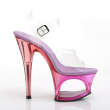 "Load image into Gallery viewer, MOON-708MCT 7"" Heel Clear Purple Tinted Pole Dance Platforms"