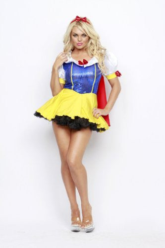 NL3027 Sexy Snow White Fancy Dress Costume - Miss Hollywood - 1