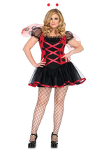 Load image into Gallery viewer, LA83652X Lovely Ladybug Plus Size Fancy Dress Costume - Miss Hollywood - 1