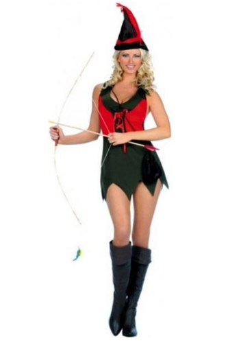 ML70075 Music Legs Costume Sexy Robin Hood Fancy Dress Costume-Costume-Music Legs-M/L-Miss Hollywood Sexy Shoes
