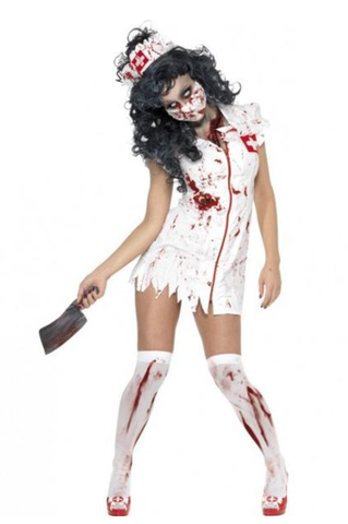 SM34132 Zombie Nurse Halloween Costume - Miss Hollywood - 1