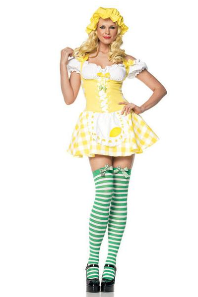LA83313 Sexy Lemon Girl Fancy Dress Costume Outfit - Miss Hollywood - 1