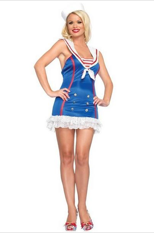 LA83669 Frisky First Mate Sailor Sexy Adult Costume - Miss Hollywood - 1
