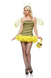 LA8412 Sexy Honey Bee Fancy Dress Costume - Miss Hollywood - 1