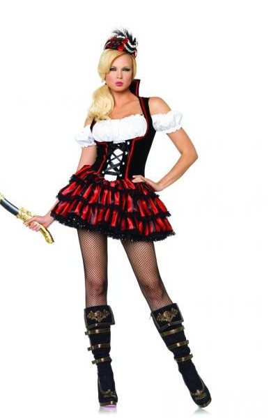 LA83607 Sexy Shipwreck Pirate Fancy Dress Costume - Miss Hollywood - 1