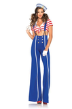 LA85387 Sexy Sailor Fancy Dress Costume