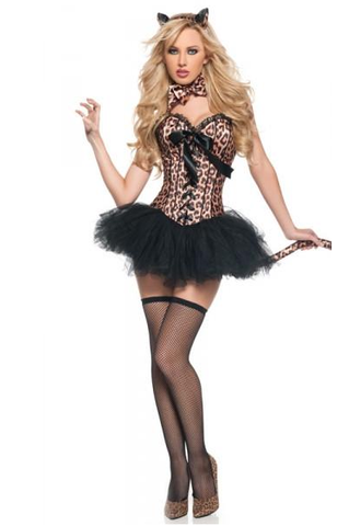 NL7449 Sexy Leopard Fancy Dress Costume - Miss Hollywood - 1