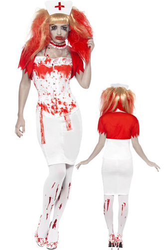 SM21952 Blood Drip Nurse Costume-Costume-Smiffys-Small-Miss Hollywood Sexy Shoes