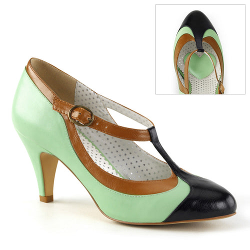 PEACH-03 Pin Up 3 Inch Heel Mint Multi Fetish Footwear