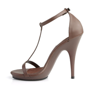 POISE-526 Fabulicious 5 Inch Heel Brown Pu Sexy Shoes