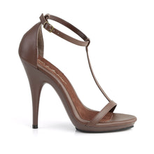 Load image into Gallery viewer, POISE-526 Fabulicious 5 Inch Heel Brown Pu Sexy Shoes