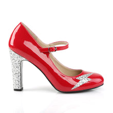 Load image into Gallery viewer, QUEEN-02 Pleaser Pink Label 4 Inch Heel Red Fetish Footwear