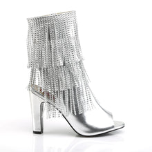 "Load image into Gallery viewer, QUEEN-100 Pleaser Pink Label 4"" Heel Silver Fetish Footwear"
