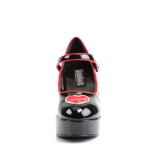 Load image into Gallery viewer, QUEEN-55 Funtasma Sexy Shoes 4 Inch Heel, Alice in Wonderland Queen Of Hearts Platform