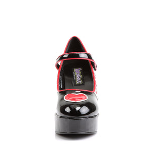 QUEEN-55 Funtasma Sexy Shoes 4 Inch Heel, Alice in Wonderland Queen Of Hearts Platform