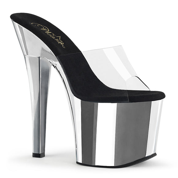 RADIANT-701 Pleaser Sexy Shoes 7 Inch Chrome Platform Sandals