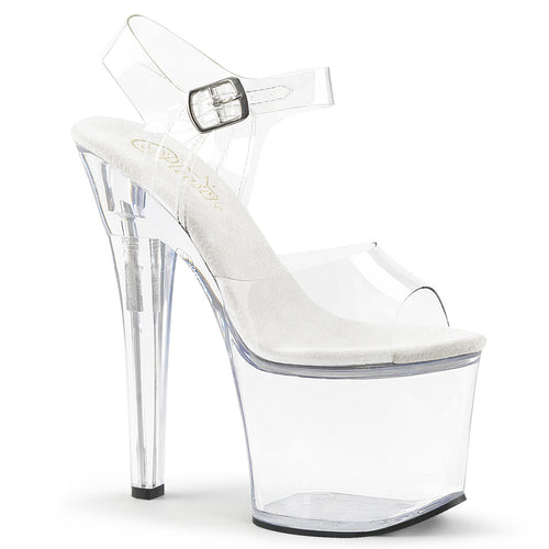 RADIANT-708 Pleaser 7 Inch Heel Clear Pole Dancing Platforms