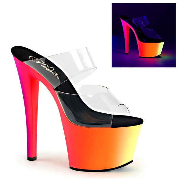 RAINBOW-302UV Pleaser Sexy Shoes 7 Inch Spike Heel Platforms Sandals - Miss Hollywood