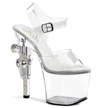 Load image into Gallery viewer, REVOLVER-708 Pleaser Sexy 7 Inch R/S Embellished Gun Heel Ankle Strap Sandals - Miss Hollywood
