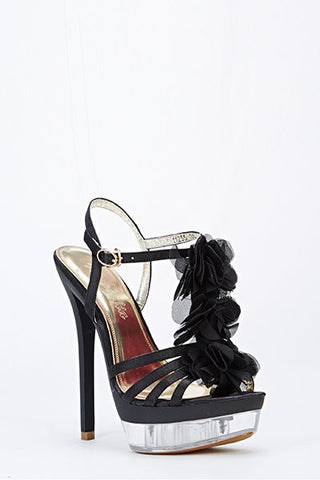 Sexy Pole Dancing High Heel Black Sandals - Sexy Shoes
