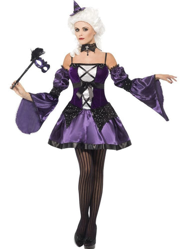 SM25436 Witch Masquerade Fancy Dress Costume-Costume-Smiffys-Medium-Miss Hollywood Sexy Shoes