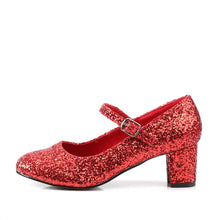 Load image into Gallery viewer, SCHOOLGIRL-50G Funtasma 2 Inch Heel Red Glitter Sexy Shoes