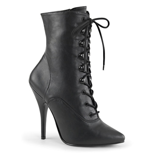 SEDUCE-1020 Pleaser 5 Inch Heel Black Fetish Footwear