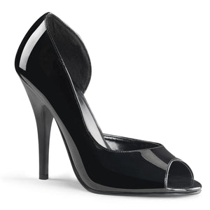 SEDUCE-212 Pleaser 5 Inch Heel Black Patent Fetish Footwear