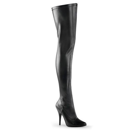 SEDUCE-3000 Pleaser 5 Inch Heel Black Fetish Footwear