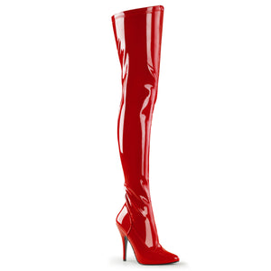 SEDUCE-3000 Pleaser Sexy Shoes 5 Inch Plain Stretch Thigh High Length Boots - Pleaser Shoes from Miss Hollywood