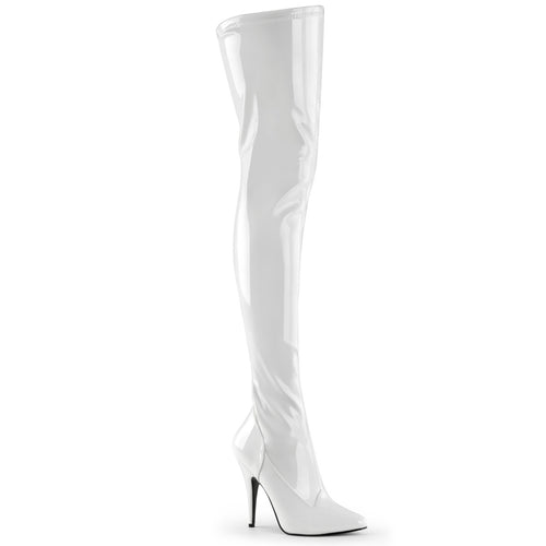 SEDUCE-3000 Pleaser 5 Inch Heel White Patent Fetish Footwear
