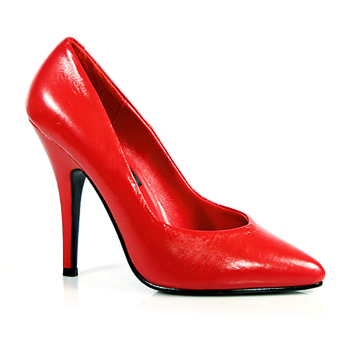 SEDUCE-420 Pleaser Sexy Sale Shoes 5 Inch Stiletto Heel Shoes Pumps Red Leather