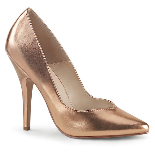 SEDUCE-420V Sexy Shoes 5 Inch Rose Gold Metallic Fetish Heel