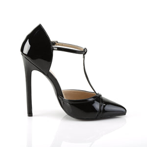 "SEXY-27 Pleaser Shoes 5"" Heel Black Patent Fetish Footwear-Pleaser- Sexy Shoes Fetish Heels"