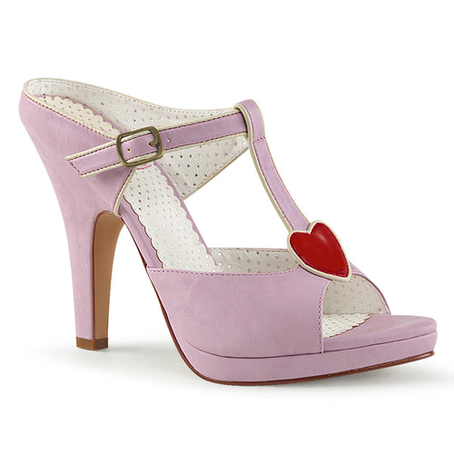 SIREN-09 Pin Up 4 Inch Heel Lavender Platforms Shoes