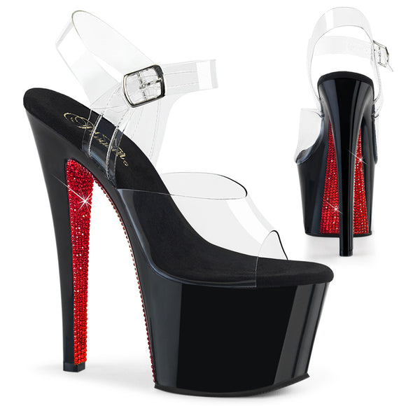 SKY-308CRS Sexy Sandals with Rhinestone Detail High Heels by Pleaser Shoes