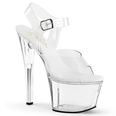 SKY-308VL Pleaser Sexy Shoes 7 Inch Heel Stripper Ankle Strap Sandals - Miss Hollywood