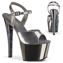 Load image into Gallery viewer, SKY-309TTG Pleaser 7 Inch Heel Pewter Pole Dancing Platforms