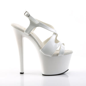 "SKY-330 Pleaser 7"" Heel White Patent Pole Dancing Platforms"