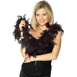 SM30864 Sexy Black Feather Boa Halloween - Miss Hollywood - 1