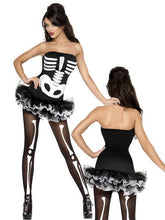 Load image into Gallery viewer, SM31969 Skeleton Fancy Dress Smiffys Costume - Miss Hollywood - 1