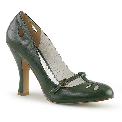 SMITTEN-20 Pin Up 4 Inch Heel Forest Green Fetish Footwear