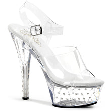 Load image into Gallery viewer, STARDUST-608 Pleaser Sexy Shoes 6 Inch Rhinestone Studded Ankle Strap Platforms Sandals